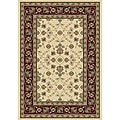 Anoosha Isfahan Ivory/ Red Rug (7'10 x 10'10)