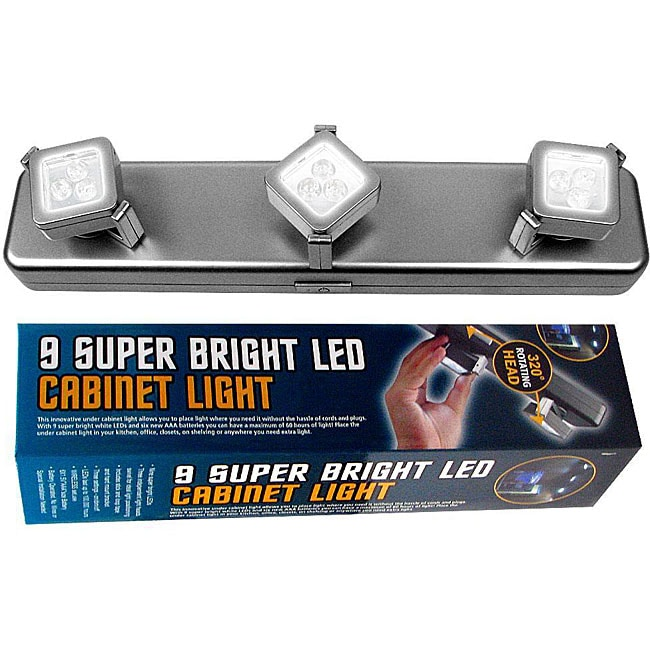 3-light Battery-operated LED Light Fixture