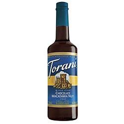 Torani Sugar Free Chocolate Macadamia Nut Syrup 750ML (Pack of 12)