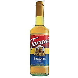 Torani 750 Milliliter Bottles Torani Pineapple Syrup (Pack of 12)