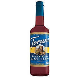Torani 750ML Sugar Free Black Cherry Syrup (Pack of 12)
