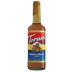 Torani 12/750ML Torani Vanilla Bean Syrup