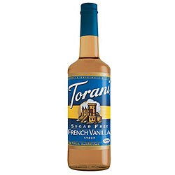 Torani Sugar Free French Vanilla Syrup 750ML (Pack of 12)