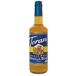 Torani 750ML Torani Sugar Free Vanilla Bean Syrup (Pack of 12)