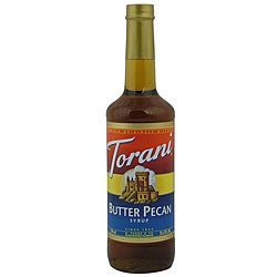 Torani 750ML Butter Pecan Syrup (Pack of 12)