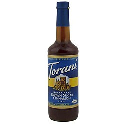 Torani 750 ML Sugar Free Brown Sugar Cinnamon Syrup (Pack of 12)