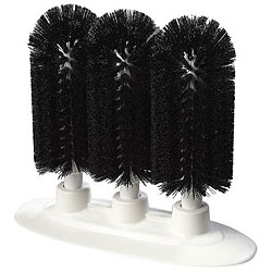 Carlisle Foodservice Black Triple Brush For Glass Washer