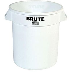 Rubbermaid Commercial 10 Gallon White Brute Container