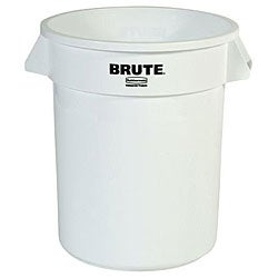 Rubbermaid Commercial 20 Gallon White Brute Container