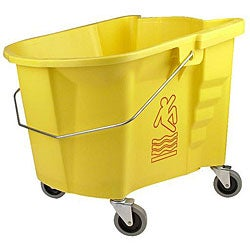 Continental Manufacturing 35-quart Yellow Bucket with 3 Casters
