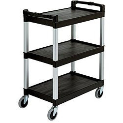 Continental Manufacturing Black Bussing Utility Cart