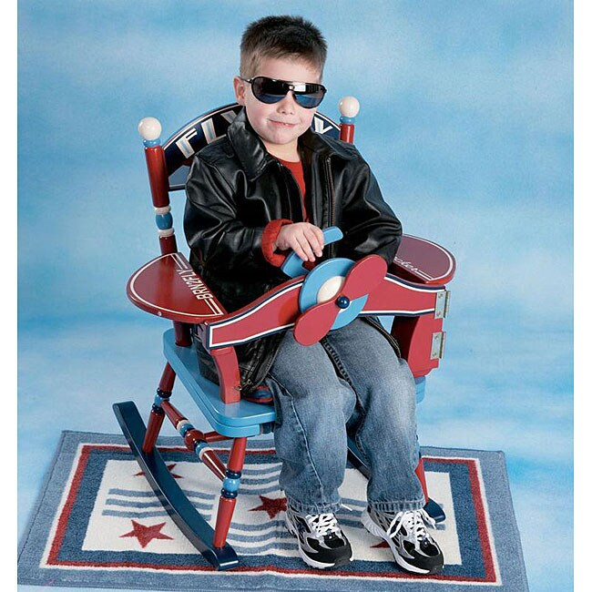 Shop Fly Boy Airplane Rocking Chair - Free Shipping Today ...