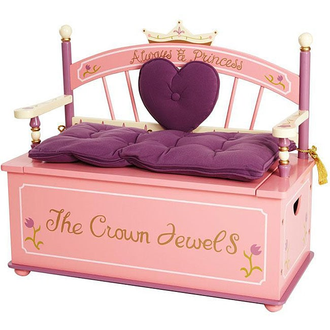 Princess Storage Bench Seat - Free Shipping Today - Overstock - 12349580