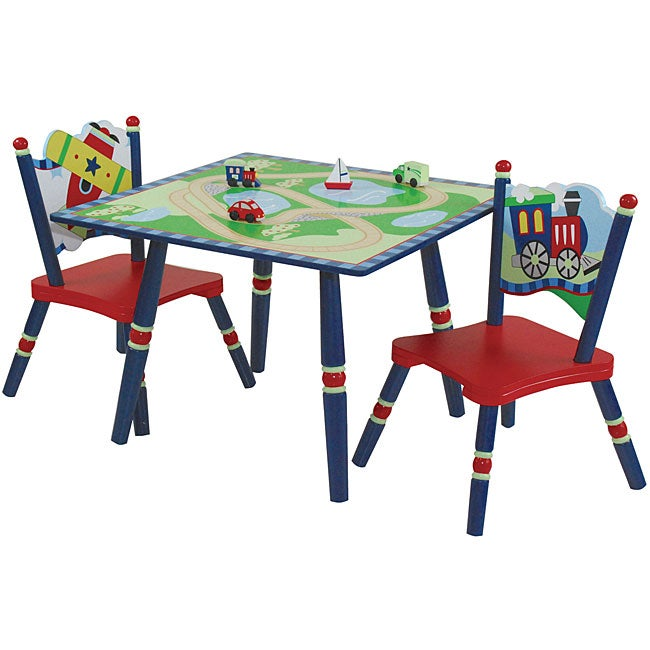 Gettin Around Kids Table and Chairs Set Free Shipping