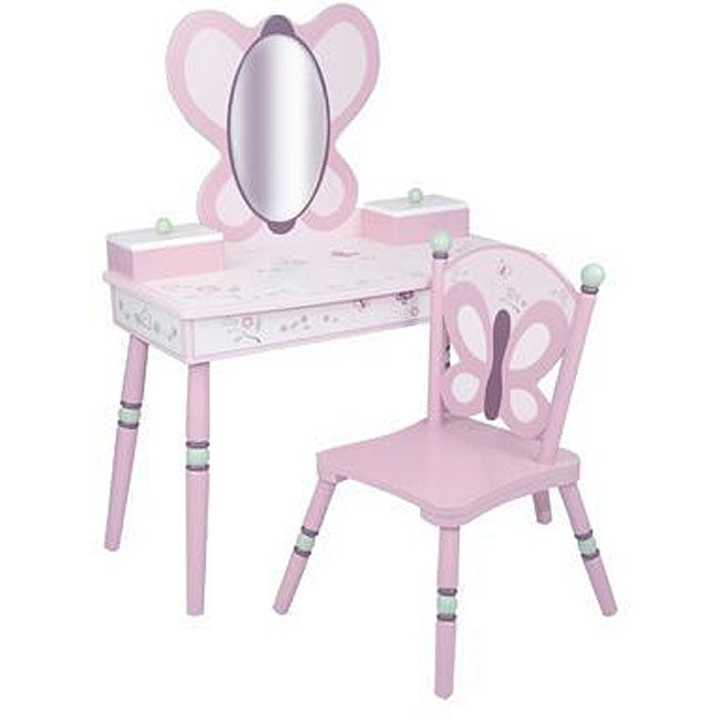 Shop Sugar Plum 2 Piece Vanity And Chair Set Free