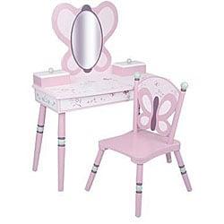 Shop Sugar Plum 2 Piece Vanity And Chair Set Free