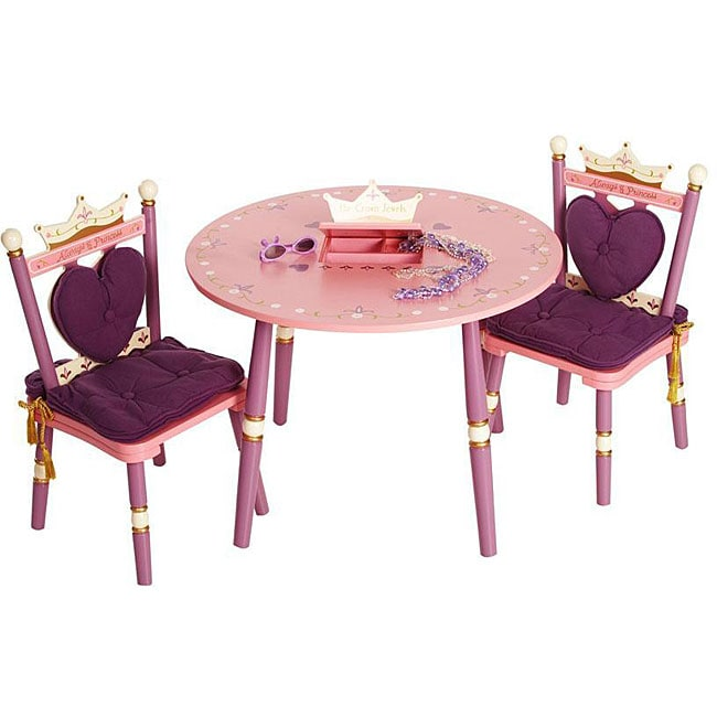 Princess Table and Chairs Set  sc 1 st  Overstock : princess chair and table set - pezcame.com