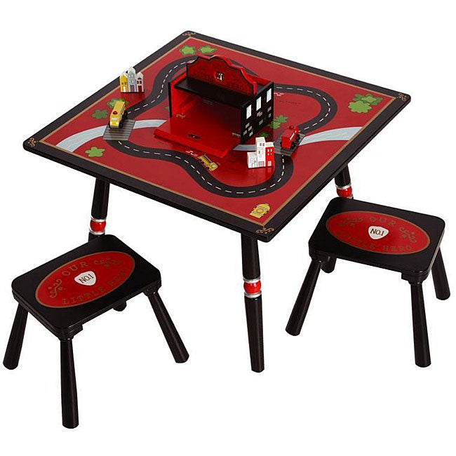 Firefighter Table and Stools Set Free Shipping Today  : Firefighter Table and Stools Set L12349589 from www.overstock.com size 650 x 650 jpeg 52kB
