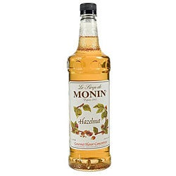 Monin Pet Hazelnut Syrup 1 Liter (Pack of 4)