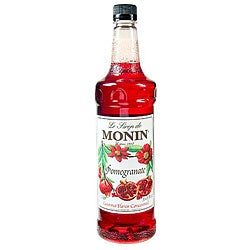 Monin Pet Pomegranate Syrup 1 Liter (Pack of 4)
