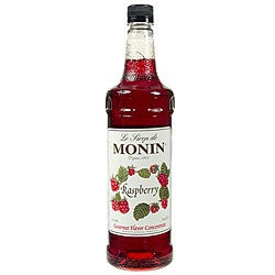 Monin Pet Raspberry Syrup 1 Liter (Pack of 4)
