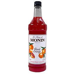 Monin Pet Blood Orange Syrup 1 Liter (Pack of 4)