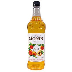 Monin Inc 1-liter Pet Peach Syrup (Pack of 4)