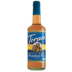 Torani Sugar Free Pumpkin Pie Syrup 750ML (Pack of 12)