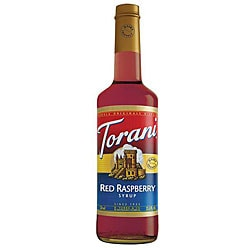 Torani Dairy Friendly Red Raspberry Syrup 750ML (Pack of 12)