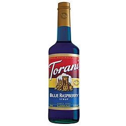 Torani Blue Raspberry Syrup 750ML (Pack of 12)