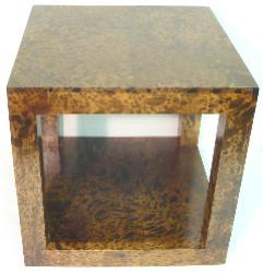 Mango Wood Cube Accent Table (Thailand)