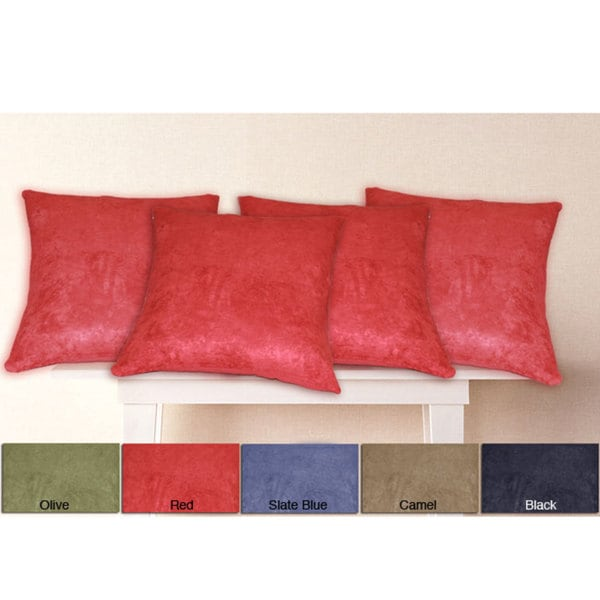 Microsuede SquareThrow Pillow Covers (Set of 4)