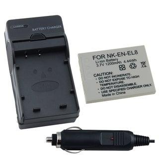 INSTEN Nikon S3/ S5/ S6/ P2/ P1 EN-EL8 Coolpix Battery and Charger