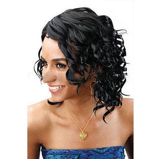 Merrylight Premium Quality Black Fashion-style Wig with Cap
