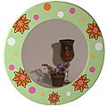 Floral Round Mirror
