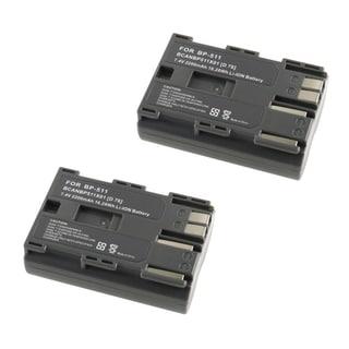 INSTEN Li-Ion Battery for Canon BP-511 EOS 20D/ 10D/ PowerShot G3/ G5/ G6 (Pack of 2)