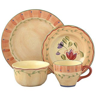 Pfaltzgraff Napoli 32-piece Dinnerware Set  sc 1 st  Overstock & 10 Strawberry Street Vivo 16-piece Orange Square Dinner Set - Free ...