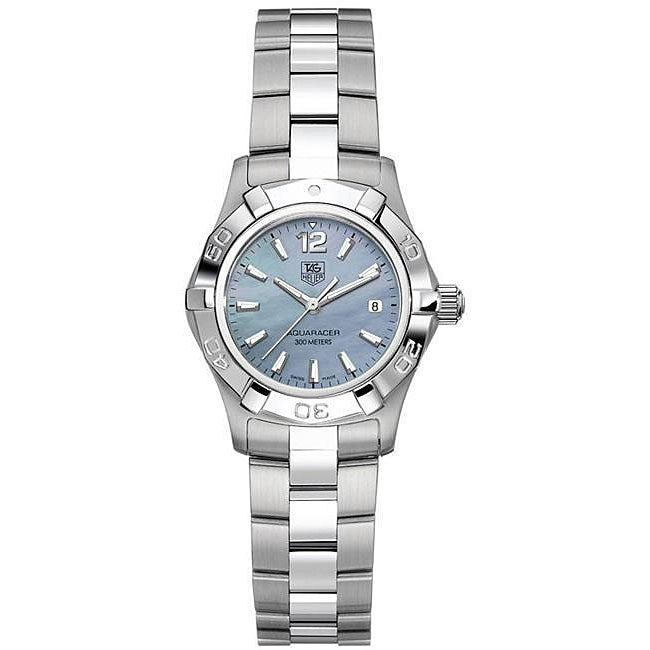 7dcf0bb9d81 Shop Tag Heuer Women s Aquaracer Stainless Steel Blue Watch - Free Shipping  Today - Overstock - 4388264