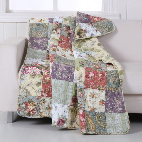 Greenland Home Fashions Blooming Prairie Throw On