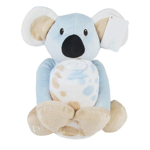 Piccolo Bambino Coral Blanket with Big Toy Blue Koala