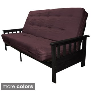 Providence Full Mission-style Frame/Twill Premier Mattress Futon Set