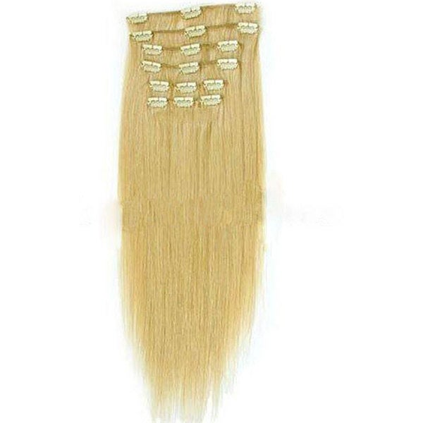 Shop Merrylight Clip In Straight Light Blonde Hair Extensions Free