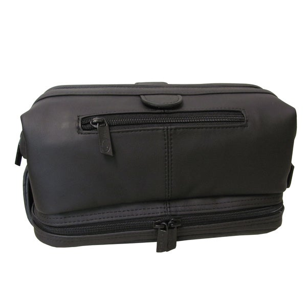 Shop Amerileather Men s Leather Toiletry Bag - Free Shipping On ... a7541d3d1d