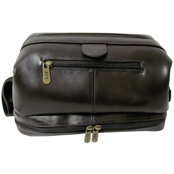 9af785d94f Shop Amerileather Men s Leather Toiletry Bag - Free Shipping On ...