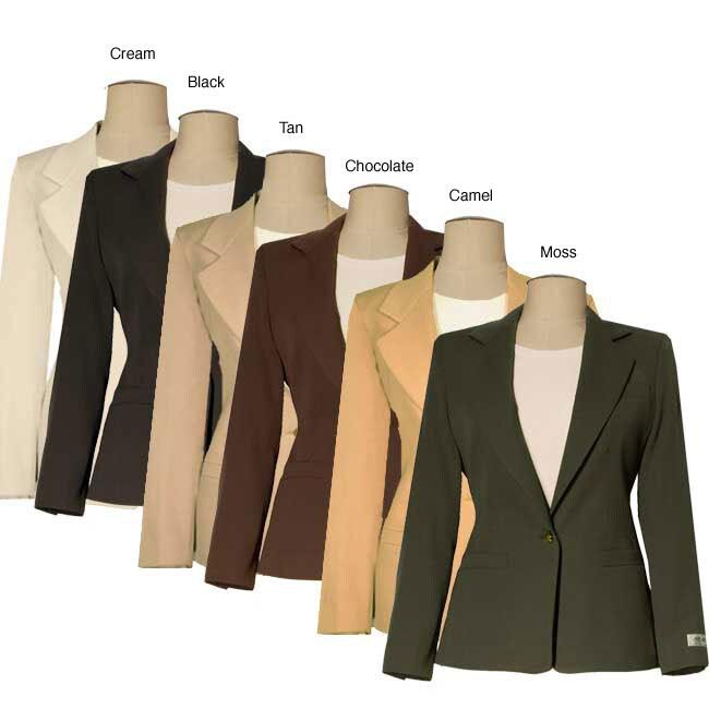 Austin Reed Women S Petite Wool Navy Size 6 Jacket Open Box Overstock 4389417