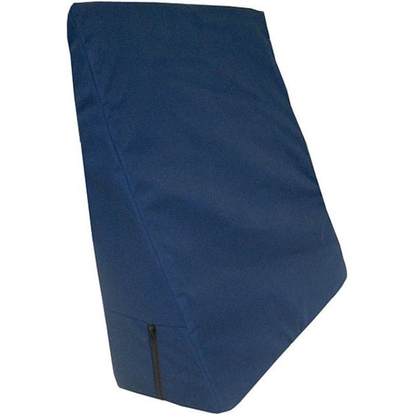 Universal Navy Polycotton Covered 7 x 22 x 22 inch Bed Wedges (Pack of 2)
