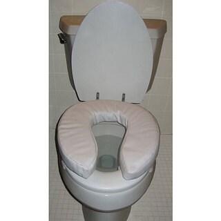 Hudson 15 X 16 X 4 Inch Comfort Cushion Toilet Seat Riser Pack Of 2 Free