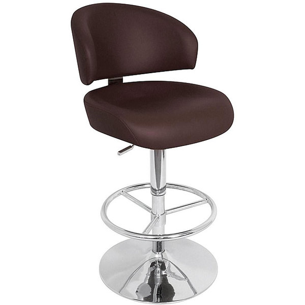 Shop Regent Brown Adjustable Bar Stool Free Shipping