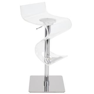 Viva Acrylic Adjustable Bar Stool