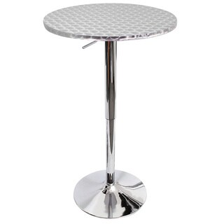 Clay Alder Home Foresthill Polished Chrome Bar Table